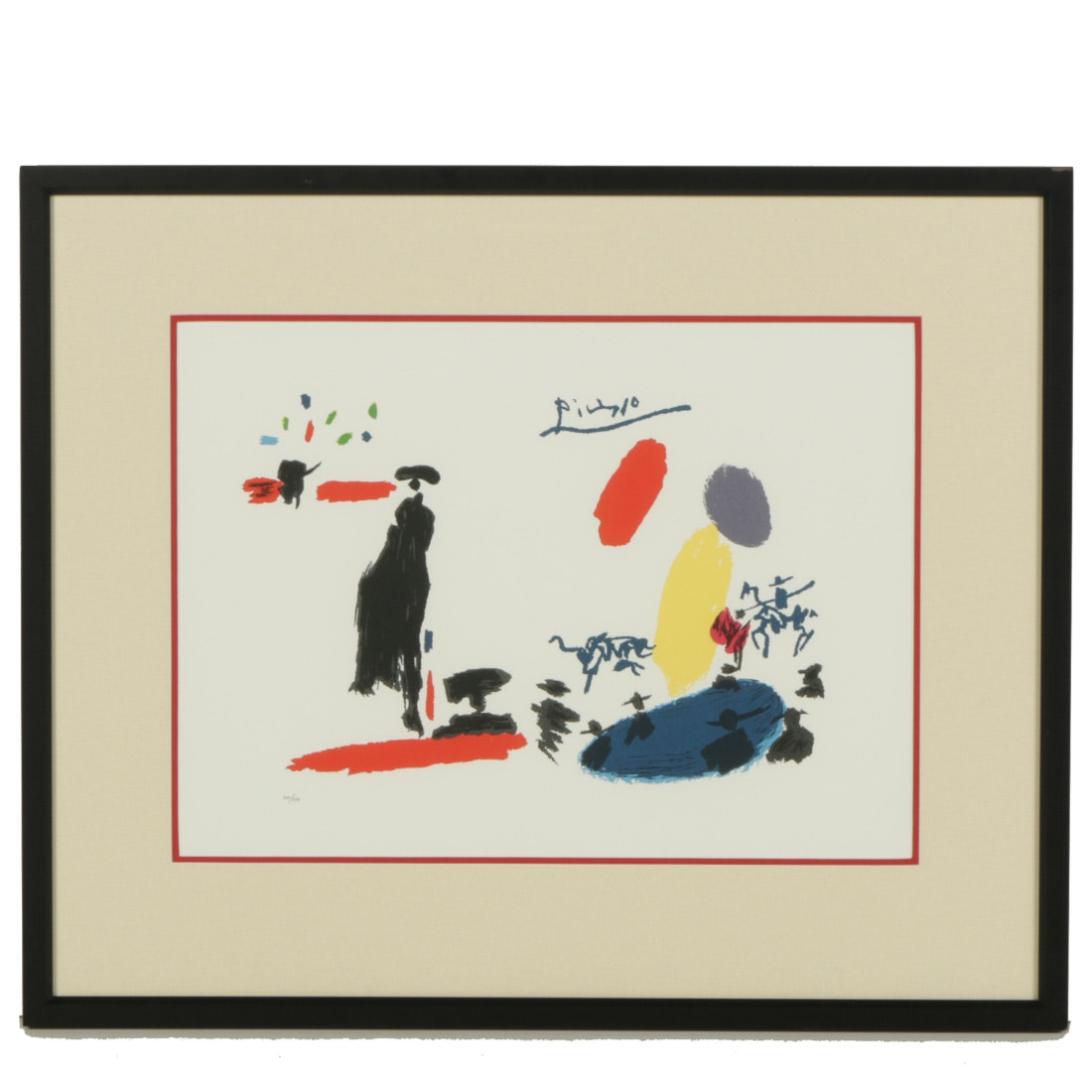 """Pablo Picasso Limited Edition Lithograph """"Toros"""""""