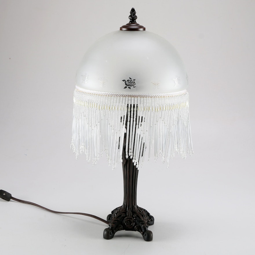 Cheyenne table lamp with victorian style glass shade ebth cheyenne table lamp with victorian style glass shade aloadofball Image collections