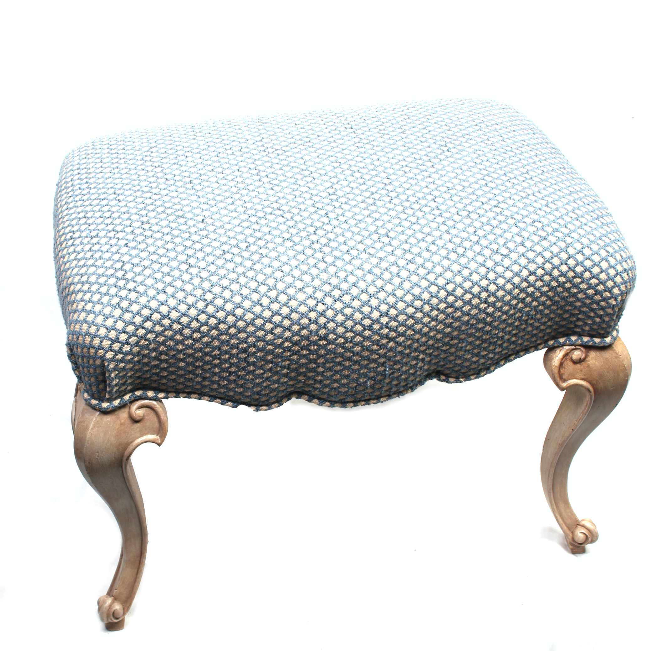 Victorian Style Upholstered Footstool