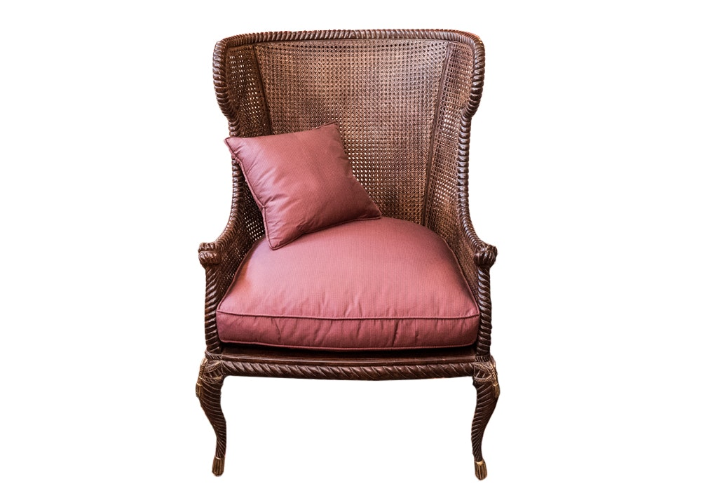 Caned Wing Chair