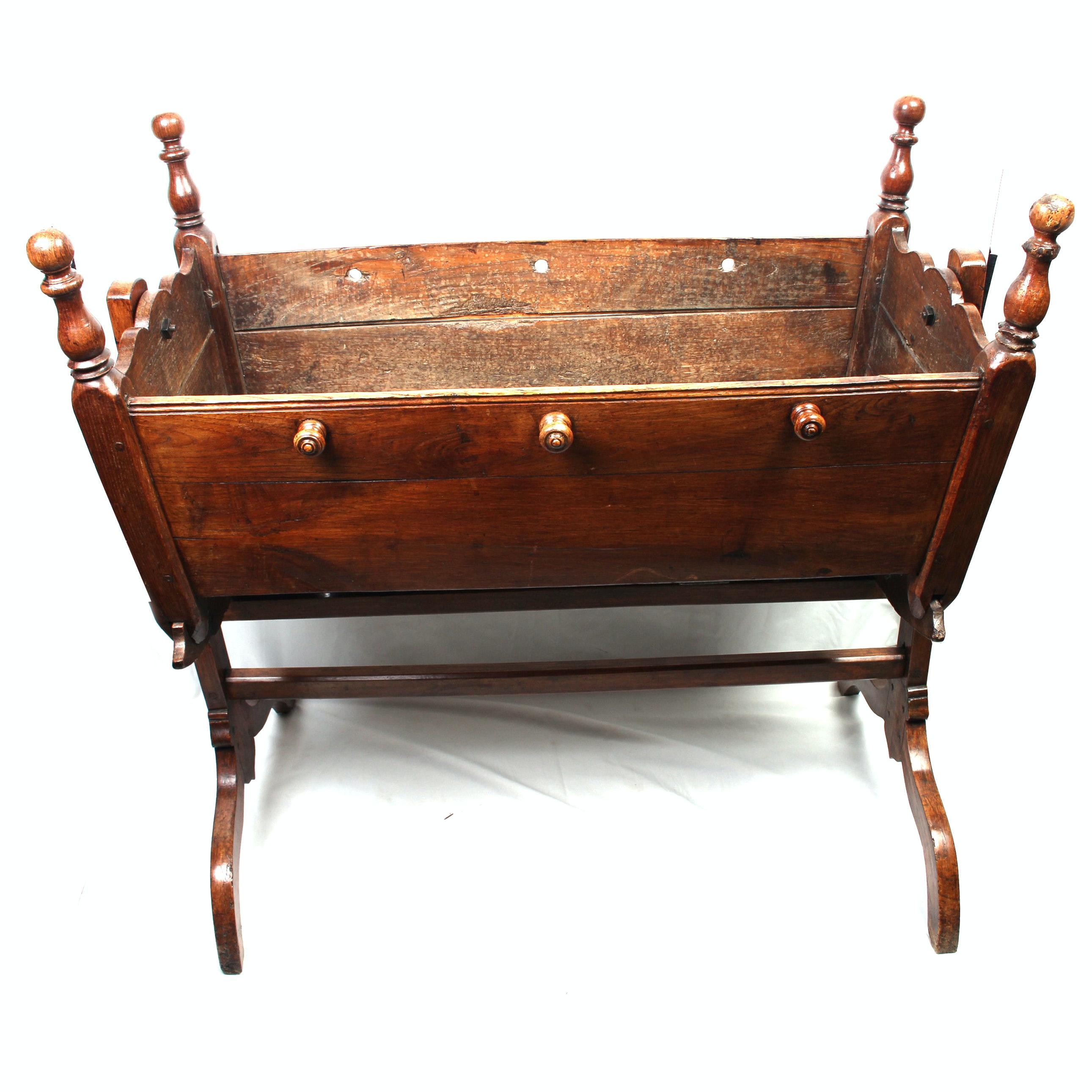 Antique Walnut Cradle