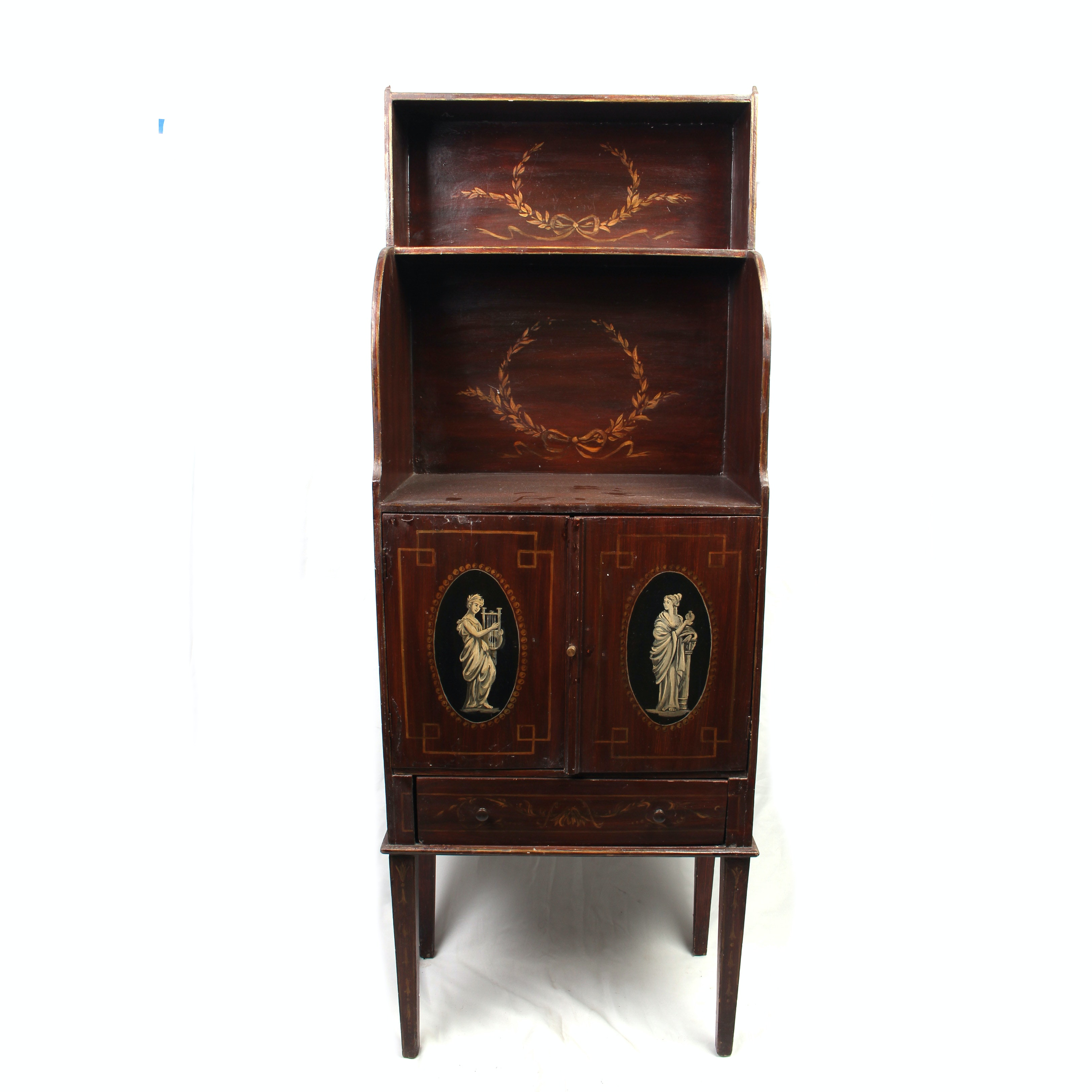 Vintage Neoclassical Style Mahogany Cabinet