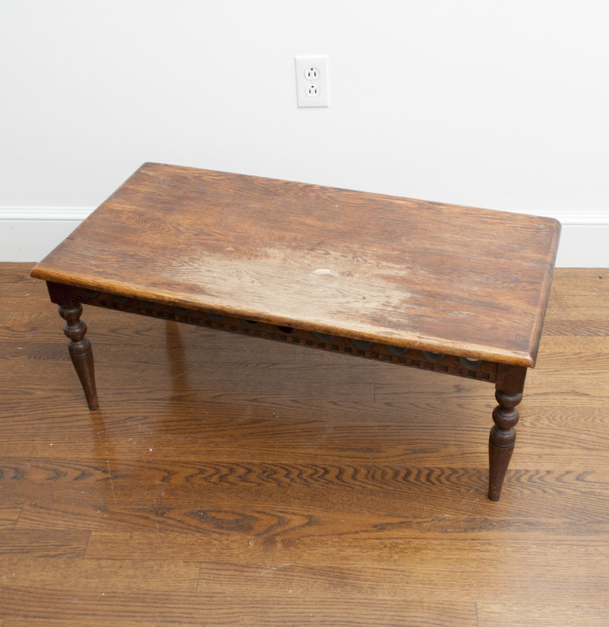 Antique Oak Coffee Table Ebth