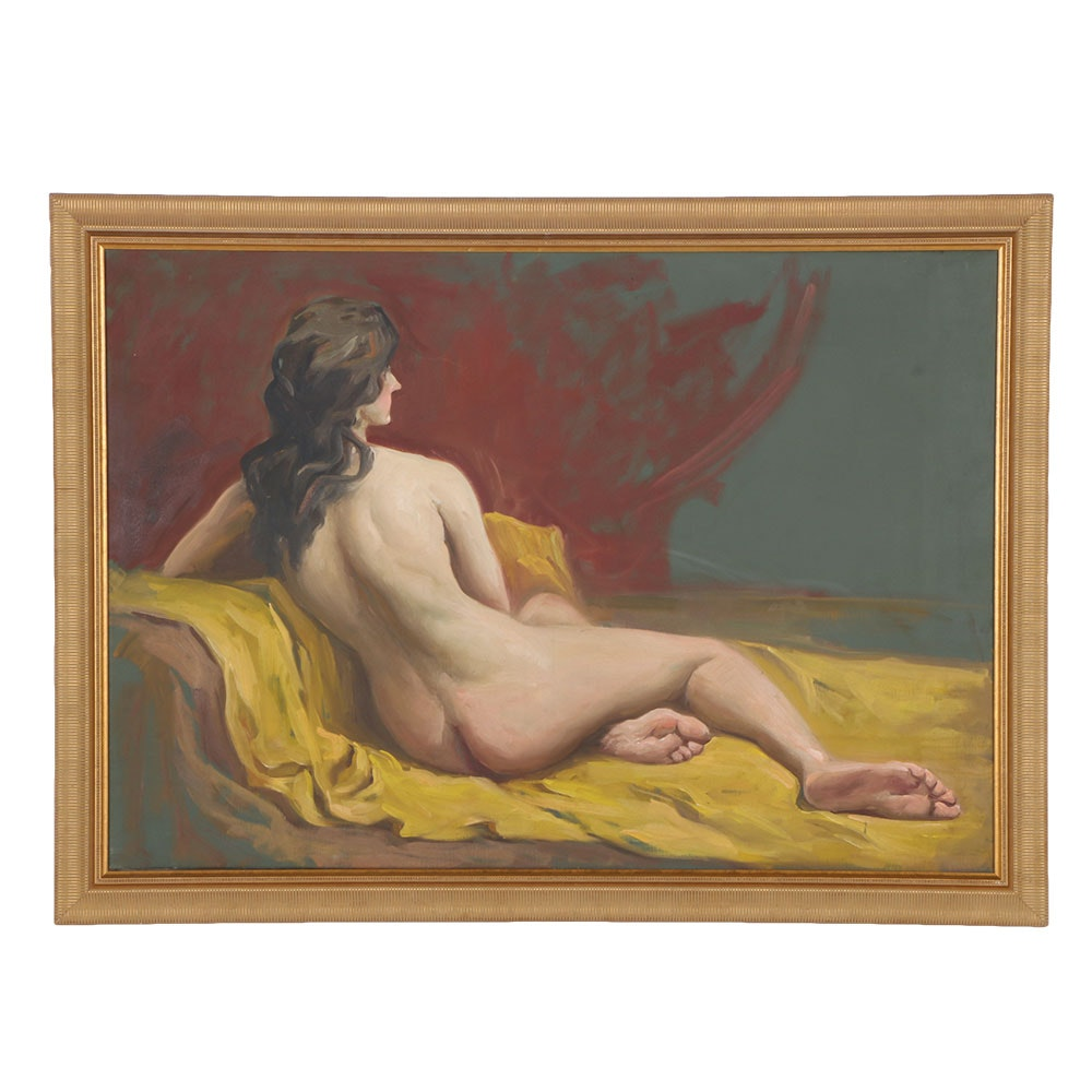 Original Acrylic Painting of Nude Woman
