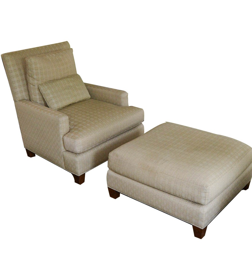 Baker Furniture Sofa Chair And Ottoman Ebth