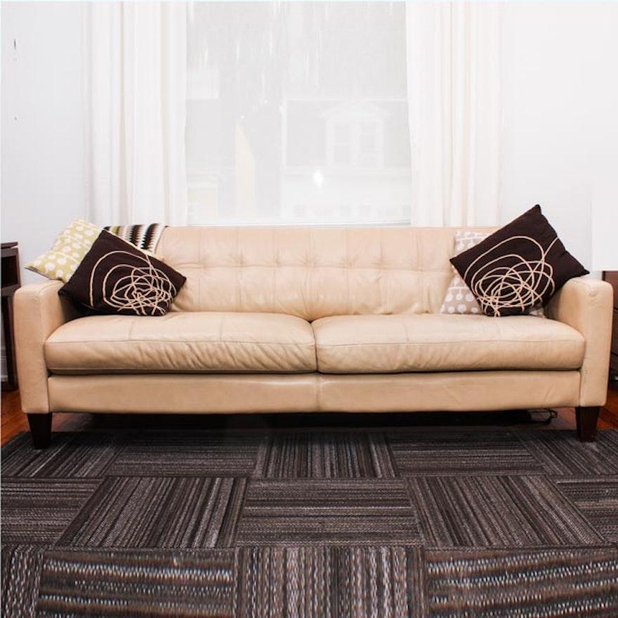 Contemporary Alessia Leather Sofa