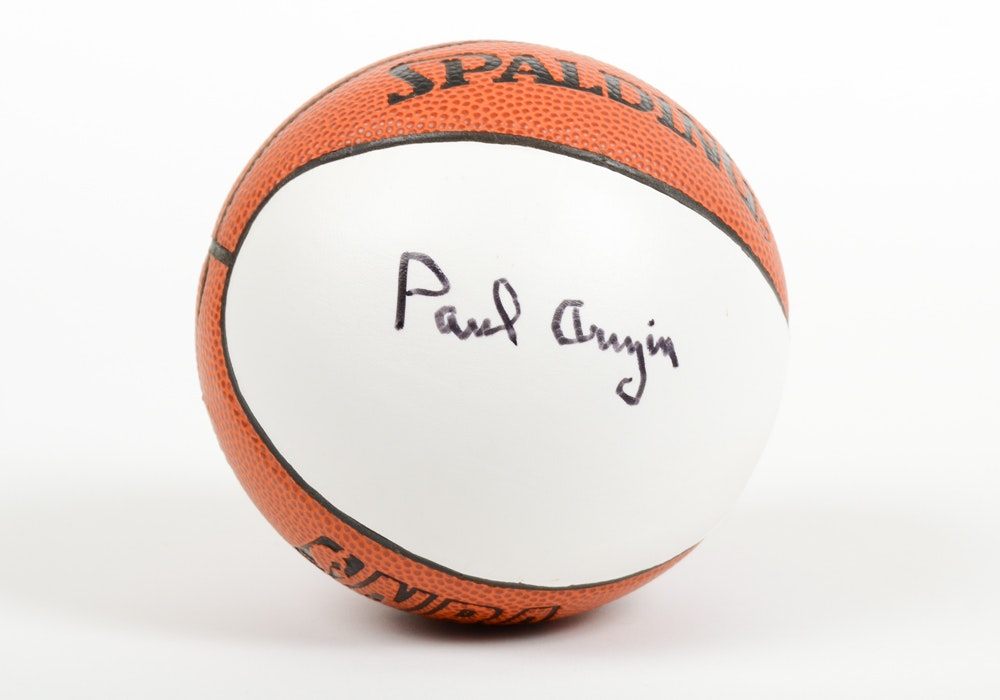 Paul Arizin Signed Mini Basketball EBTH