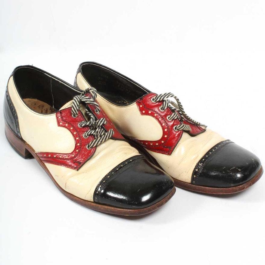9450517857313 Men's Vintage Sears Patent Leather Dress Shoes