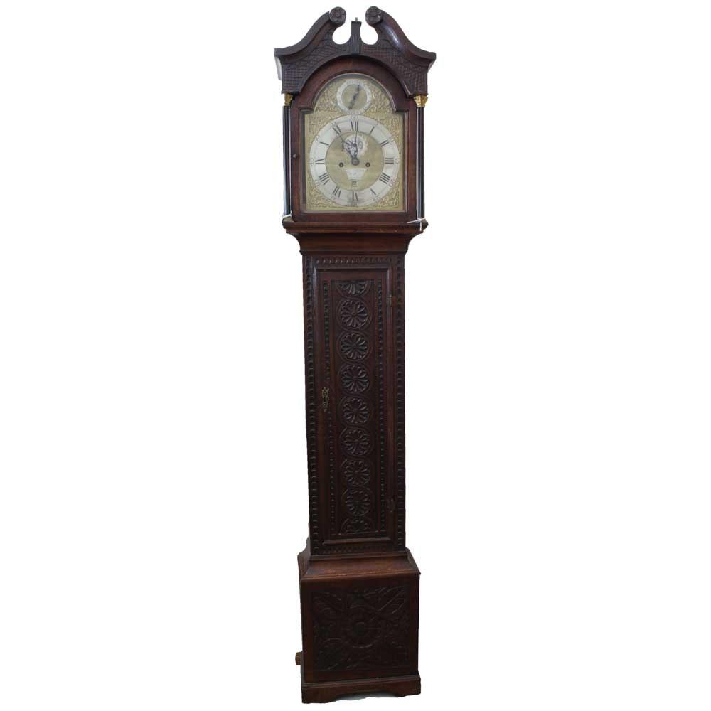 American Revolutionary War Era English Grandfather Clock