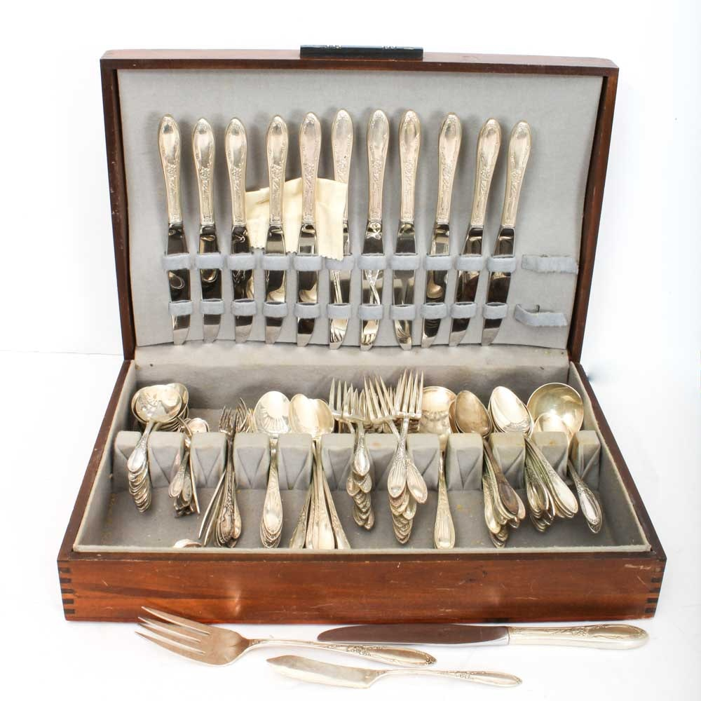 "Heirloom Sterling Silver ""Virginian"" Flatware Collection"