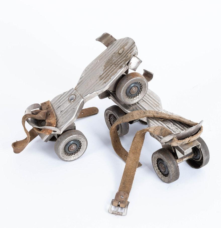 Roller skates kingston - Pair Of Vintage Kingston 612 Clipper Roller Skates