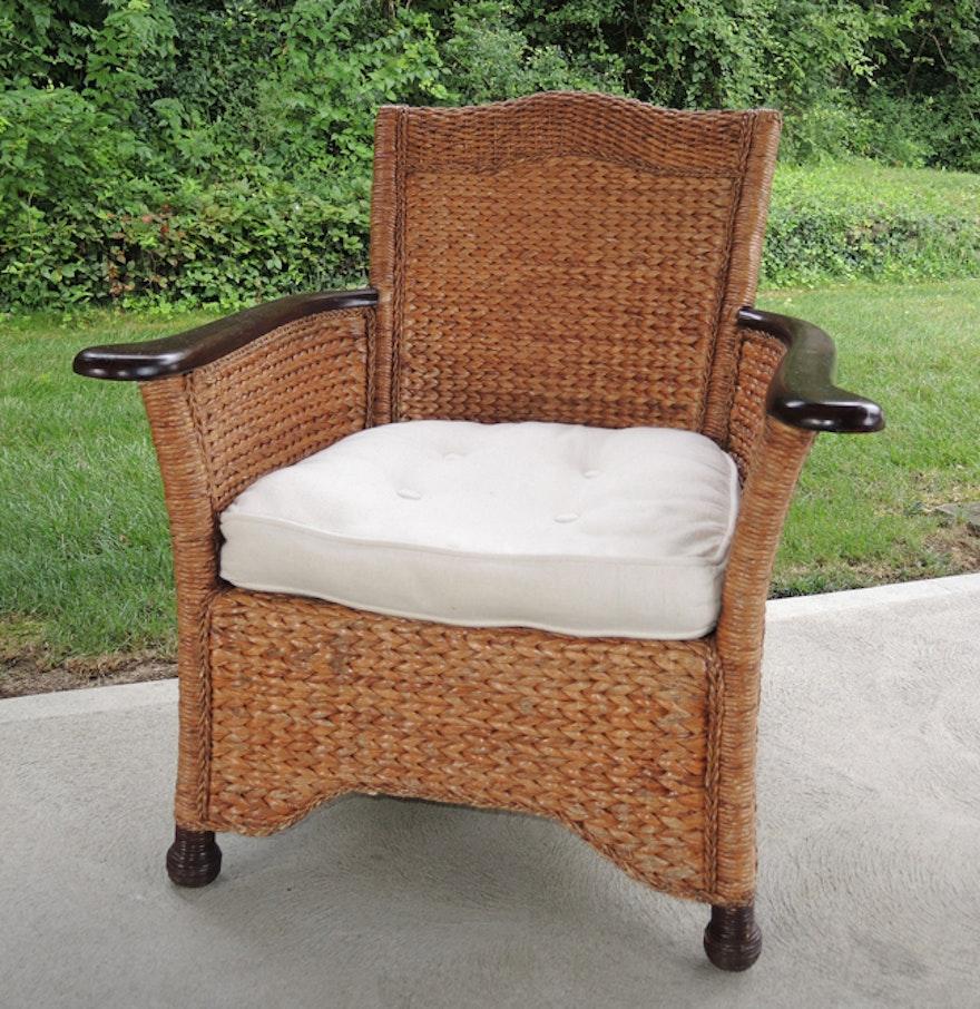 pier one wicker armchair ebth