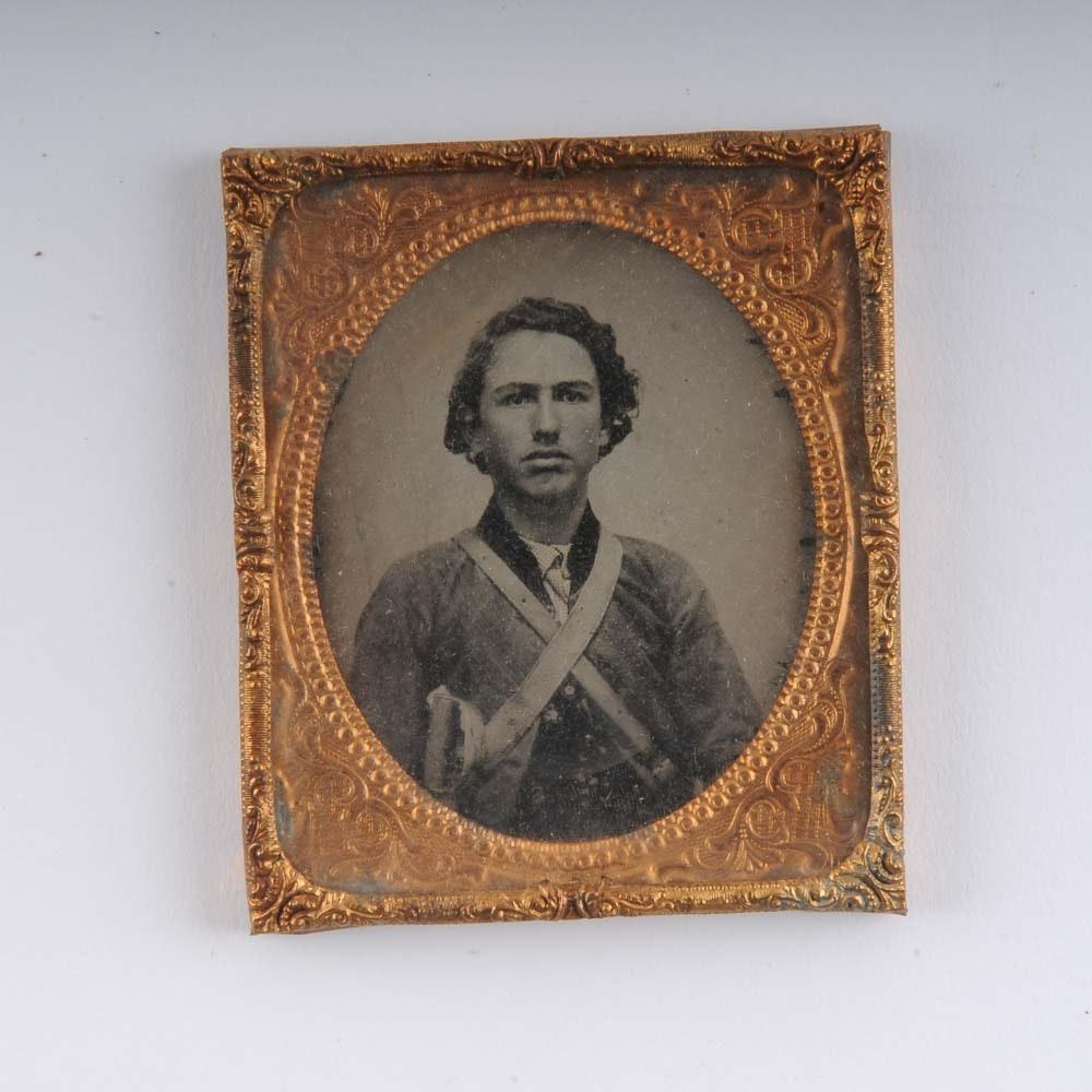 Antique Ambrotype of a Civil War Soilder