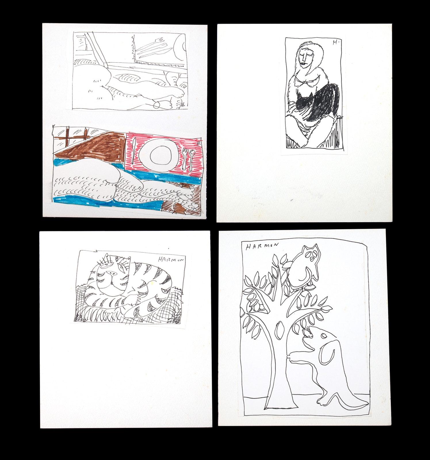 Four Paul Harmon Sketches