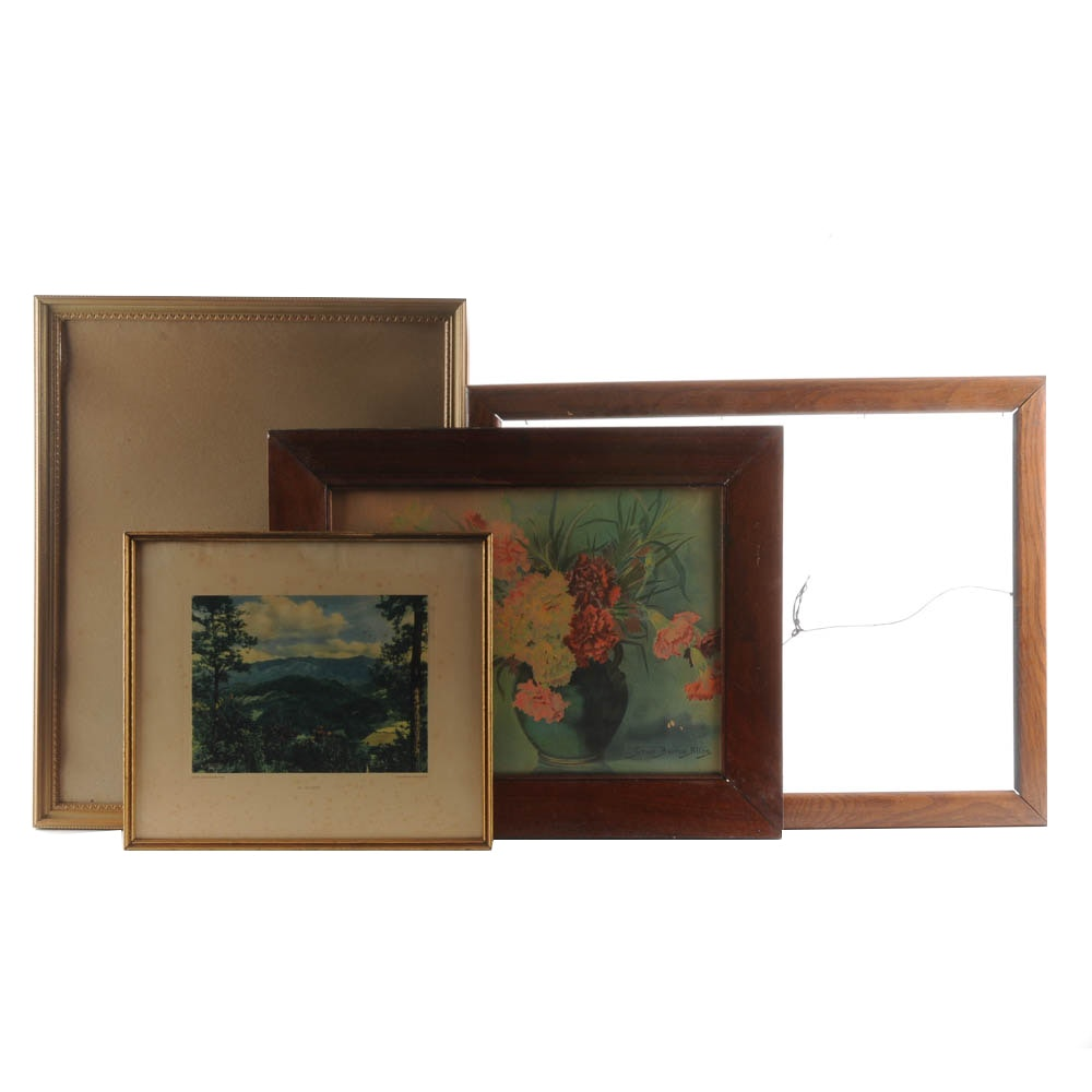 Collection of Picture Frames and Prints
