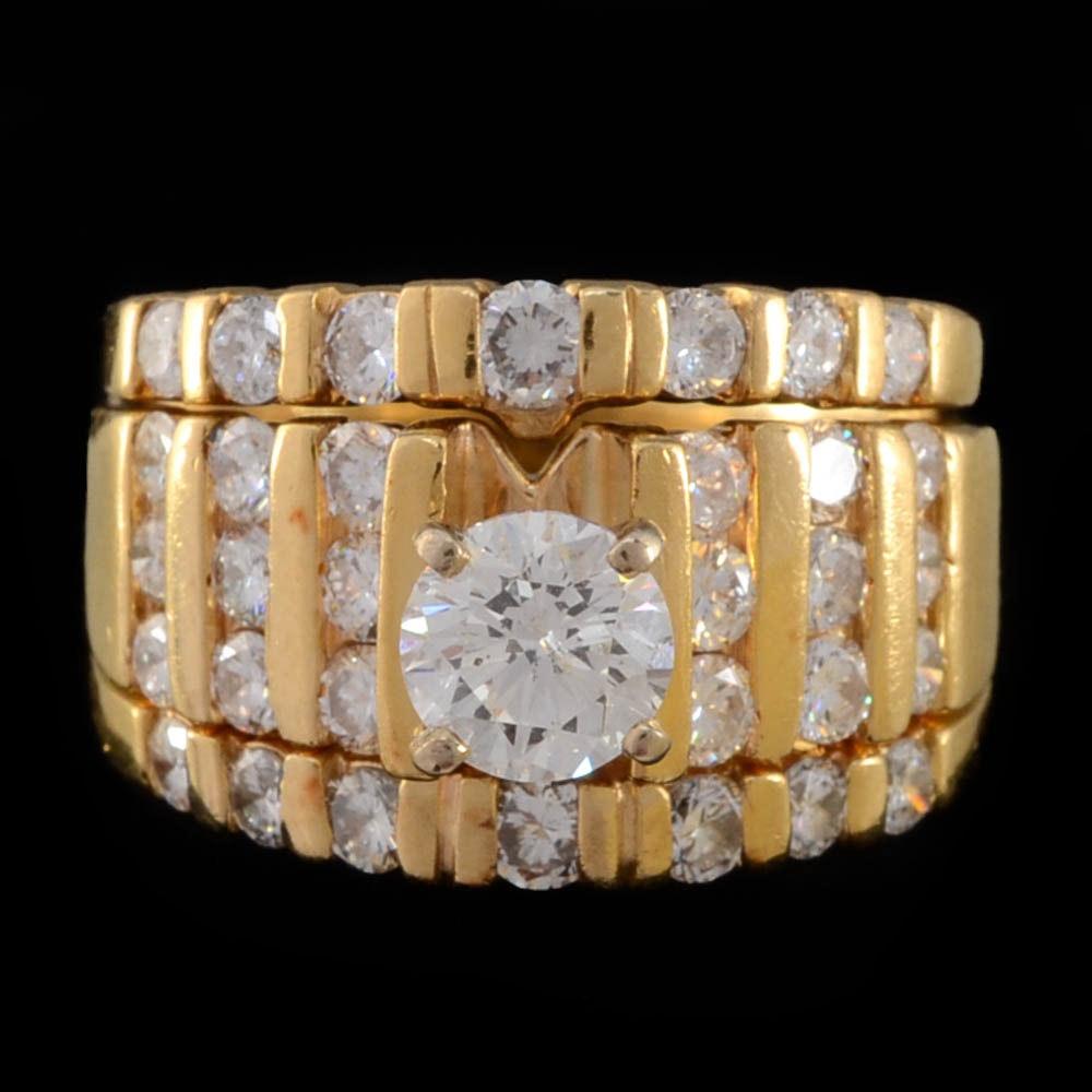 2.02 CTW 14K Gold Diamond Ring