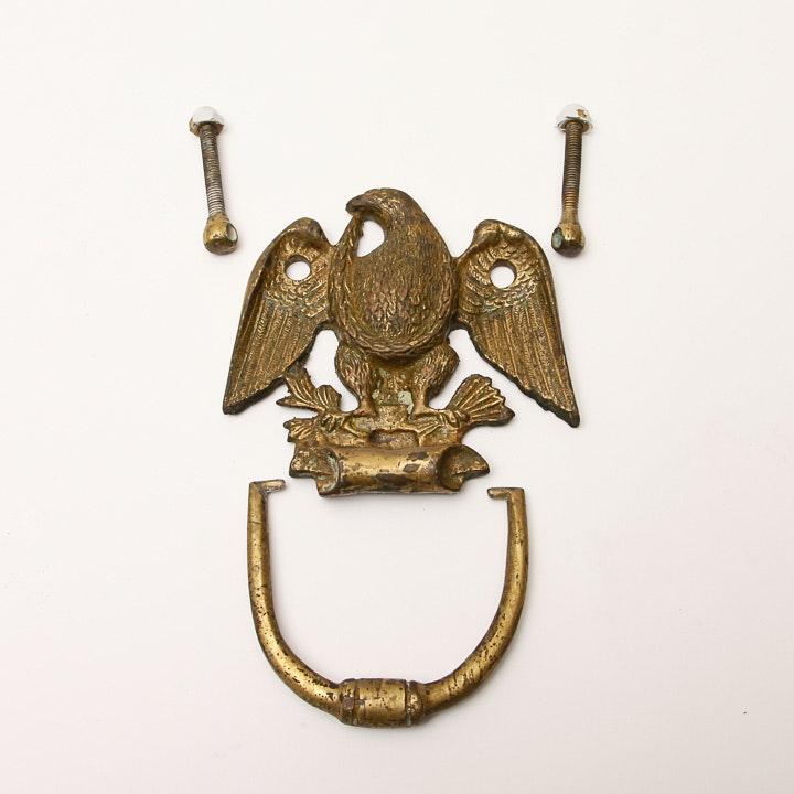 Antique Brass Eagle Door Knocker ...