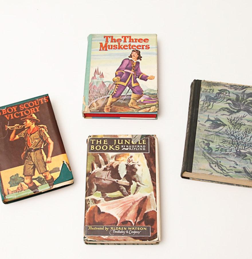 Vintage Hardcover Book : Assortment of vintage hardcover books ebth