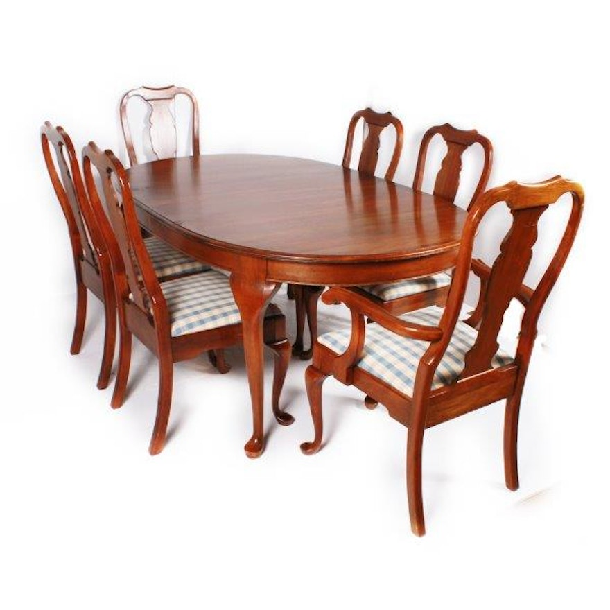 Pennsylvania House Furniture Dining Table With Six Chairs