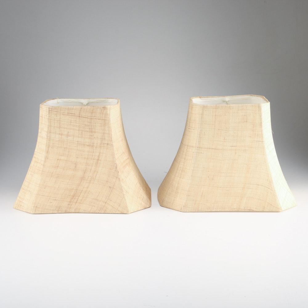 Pair of Burlap Lampshades