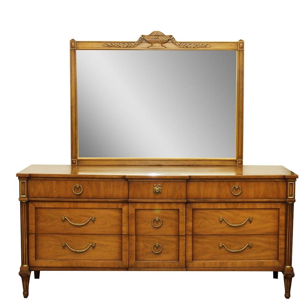Henredon Dresser with Matching Mirror