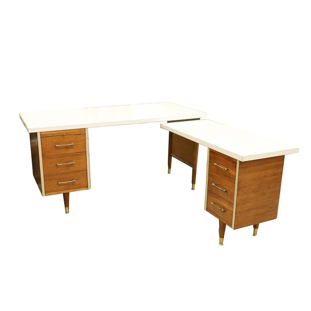 Mid-Century L-Shaped Desk