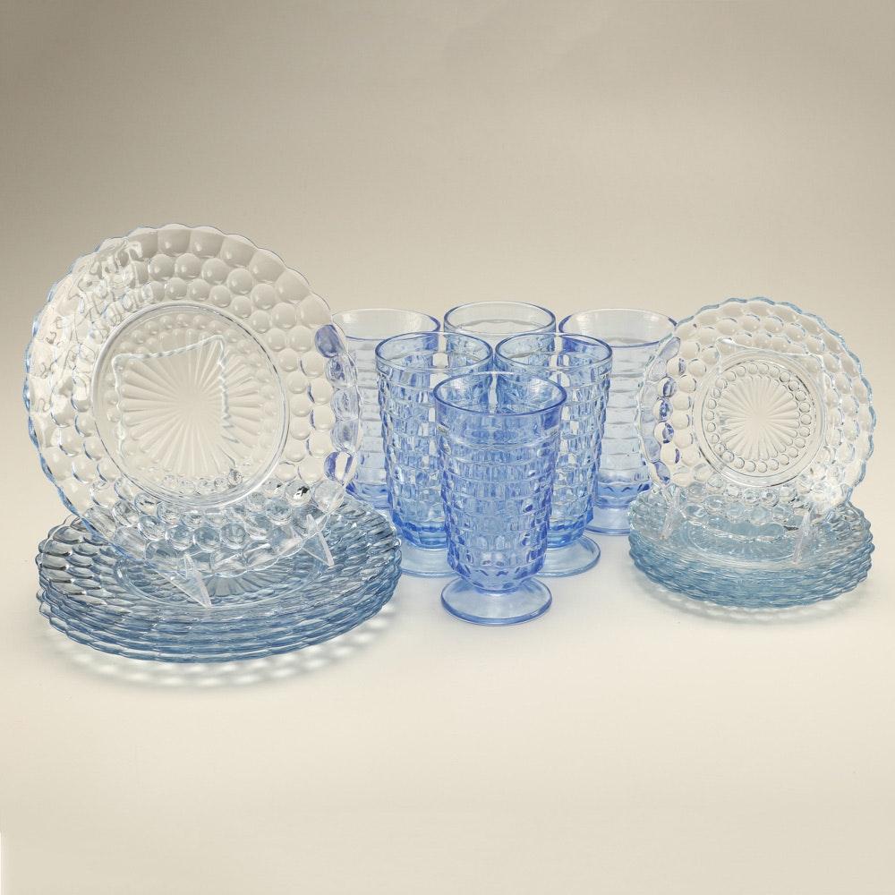 Blue Glass Serving Set