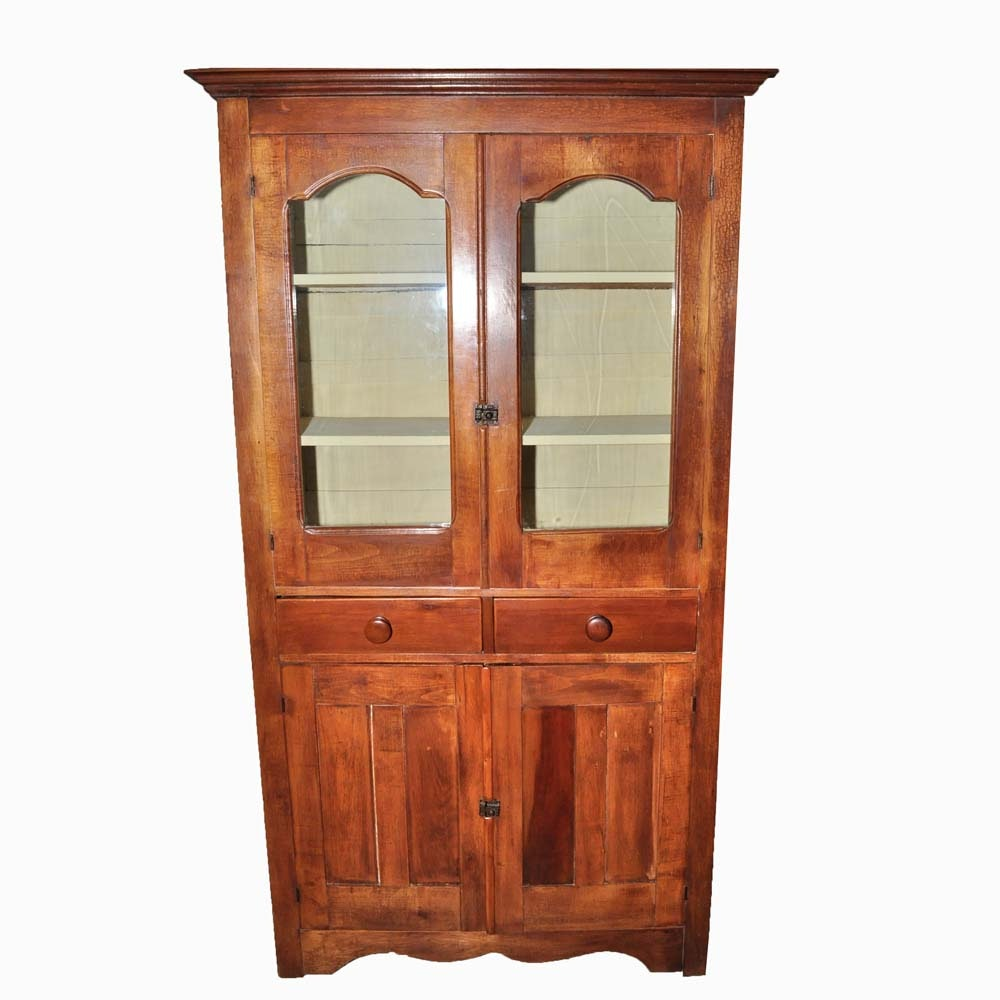 glass cabinets for kitchen vintage mt airy chair company china cabinet ebth 3768