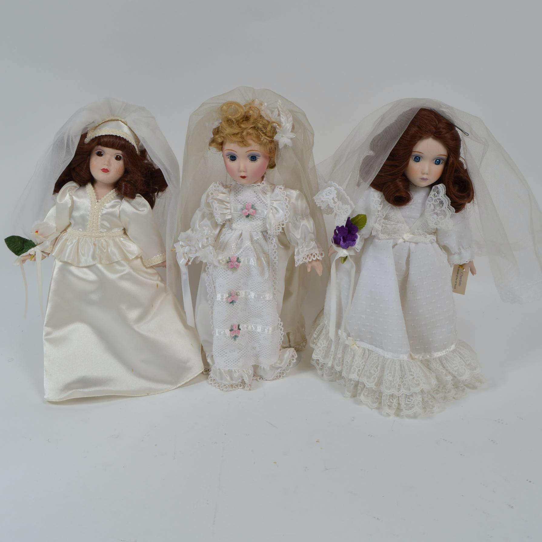 Porcelain Bride Dolls