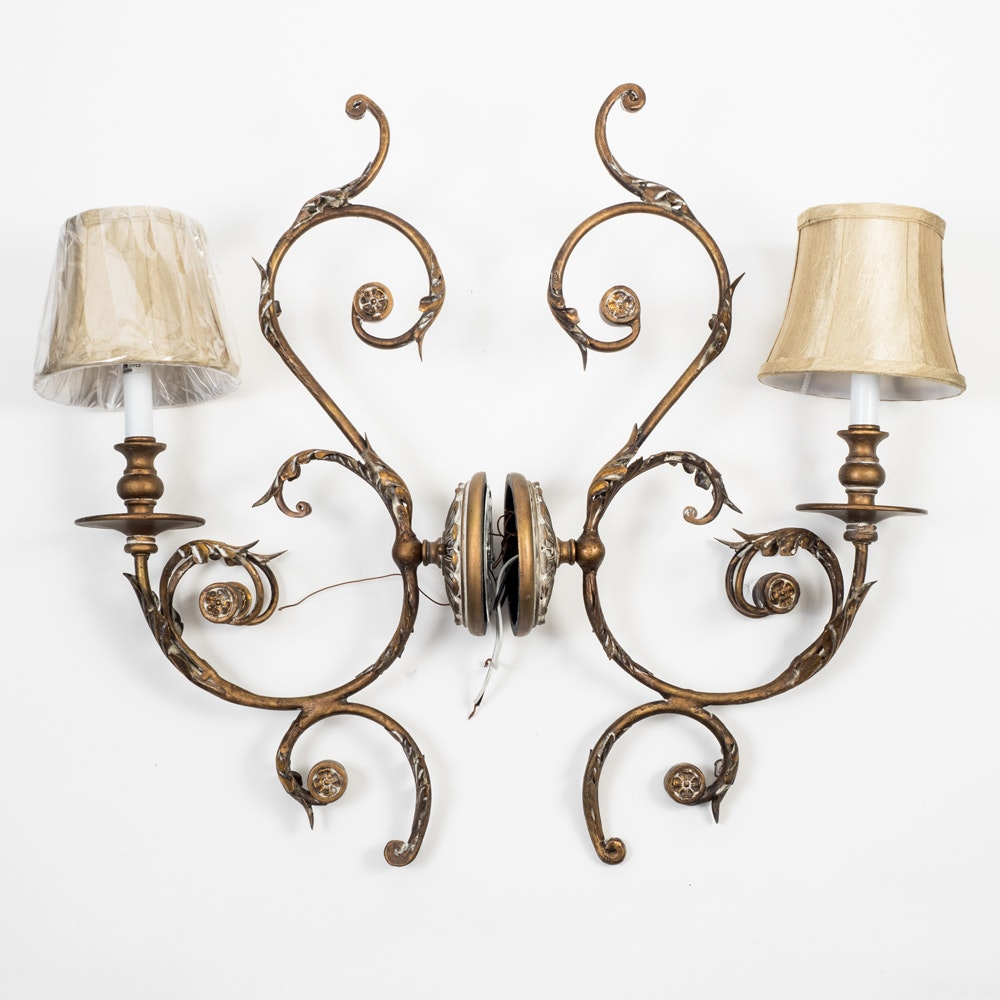 Pair of Ornate Wall Sconces