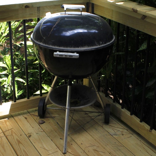 Black Weber Charcoal Grill