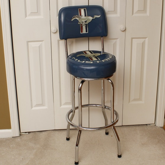 Ford Mustang Bar Stool And Wall Decor Collection Ebth