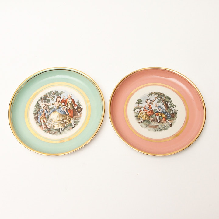 Vintage Hyalyn Colonel Themed Plates