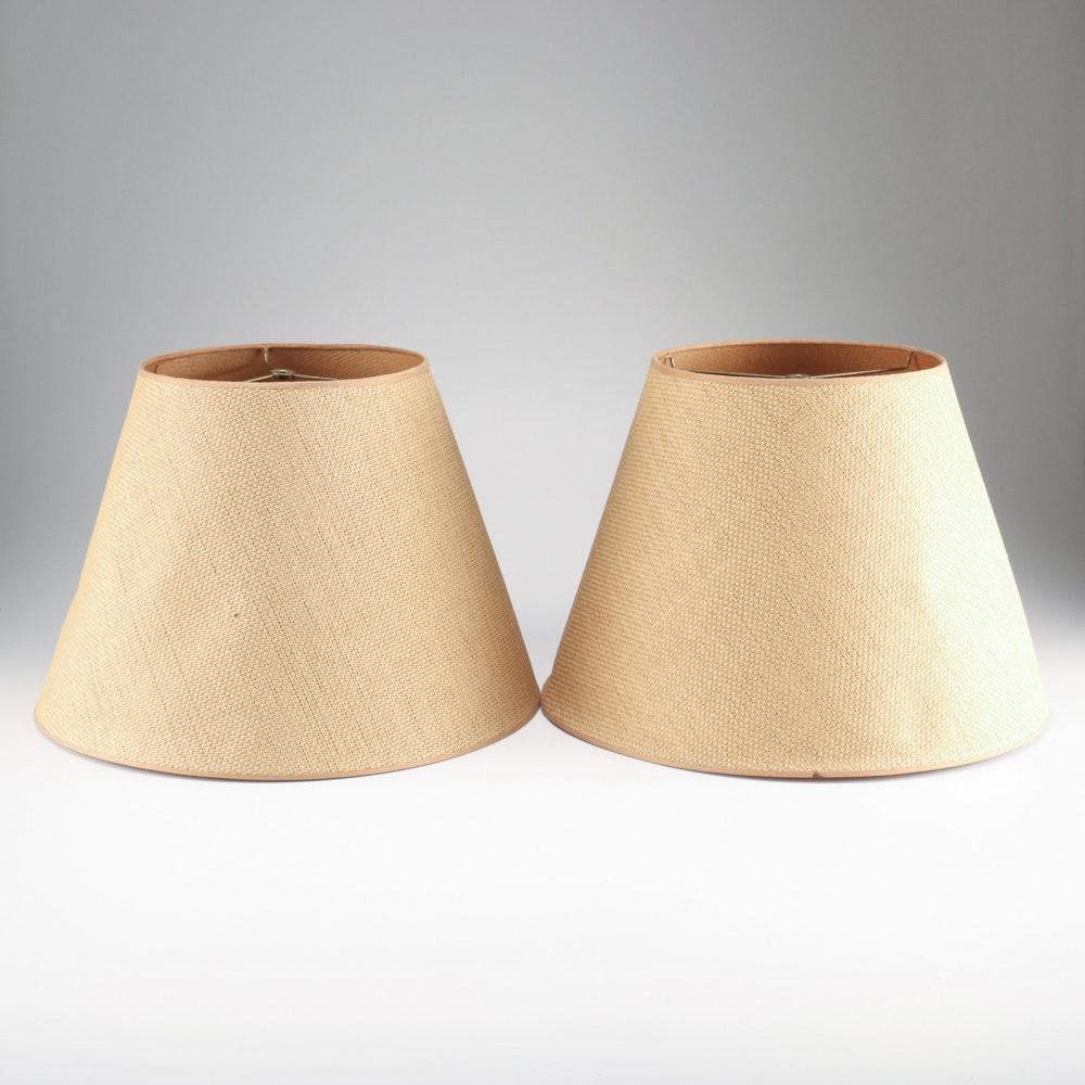 Pair of Beige Lamp Shades