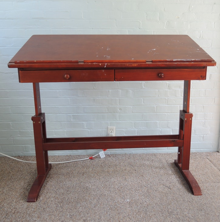 Wooden Art Craft Table With Adjustable Height And Tilt ...
