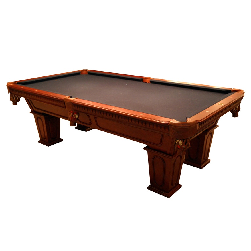 Cannon Billiards Pool Table With Slate Top And Accessories EBTH - Cannon pool table