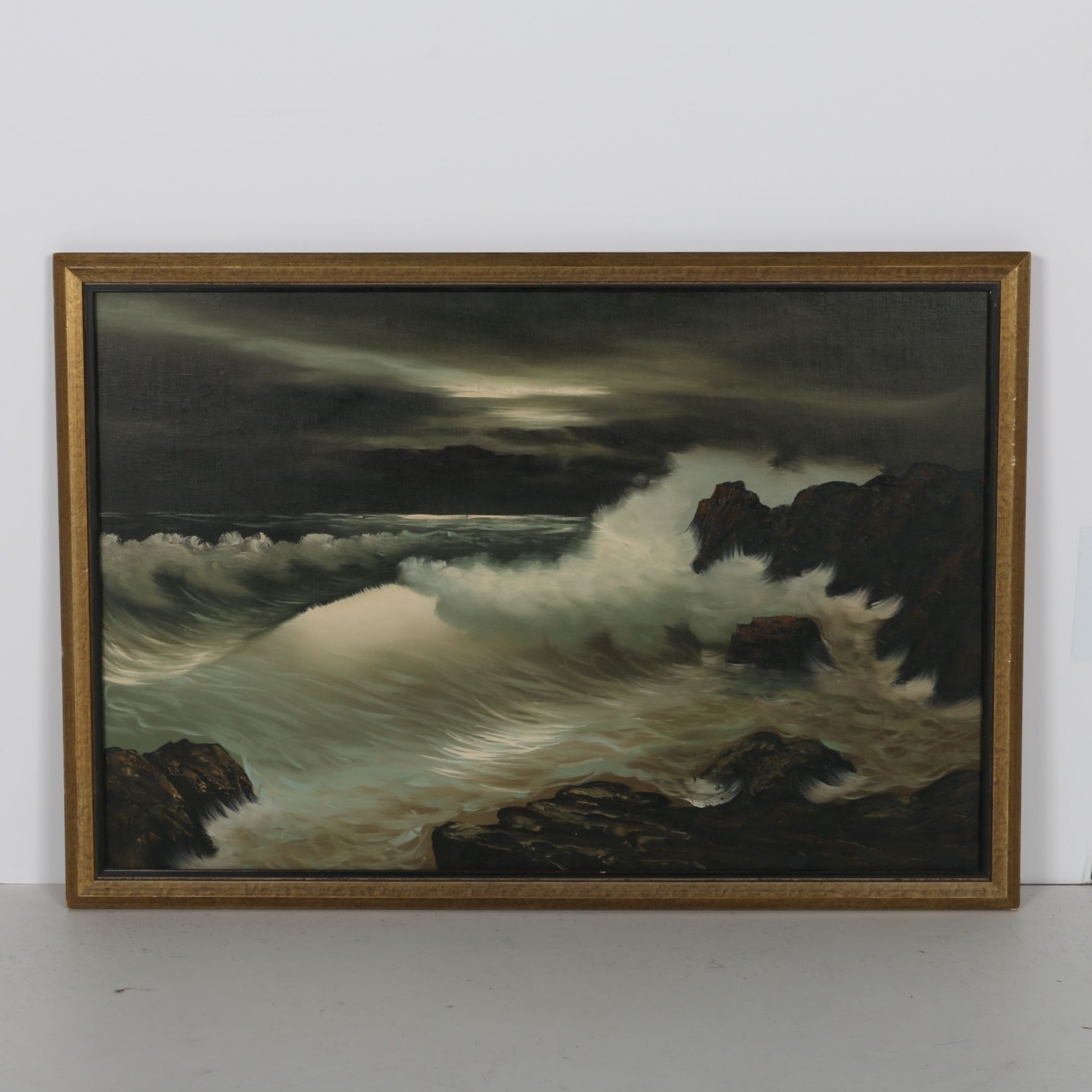 Stormy Seascape Original Oil Painting
