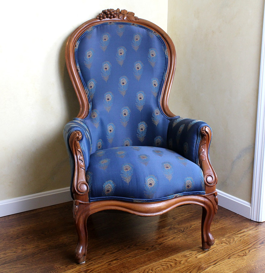 Antique victorian chairs - Antique Victorian Reupholstered Side Chair