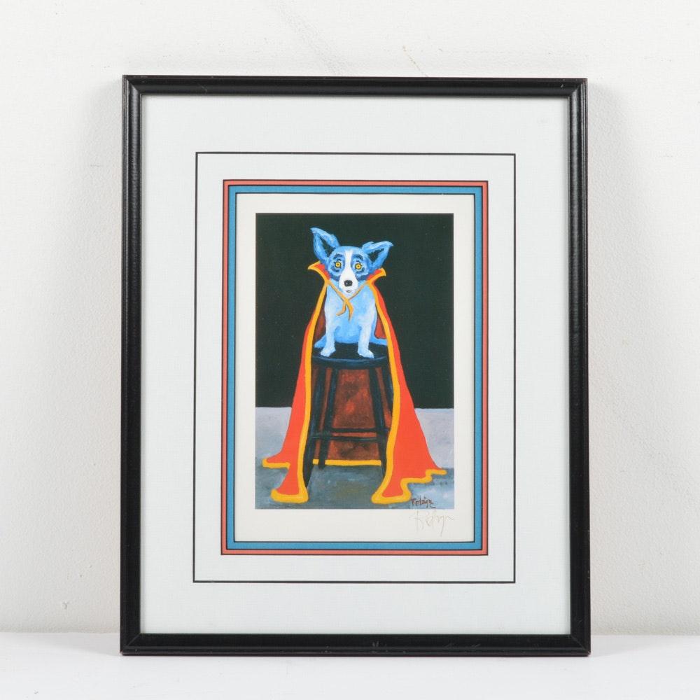 Signed Georges Rodrigue Blue Dog Print