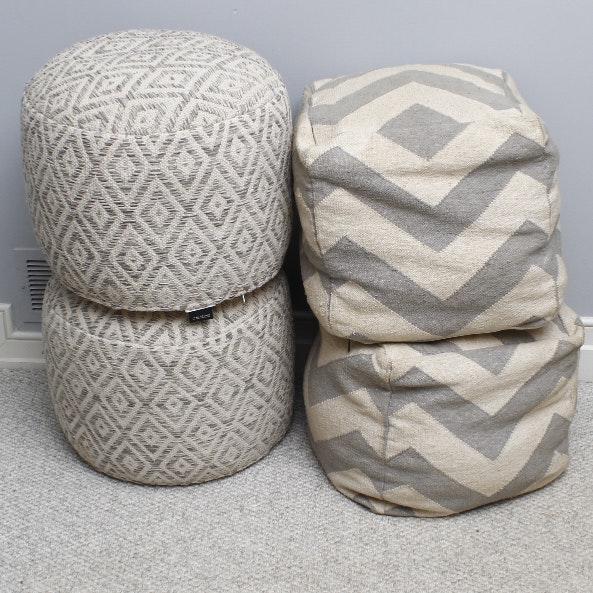 Collection of Pouf Ottomans