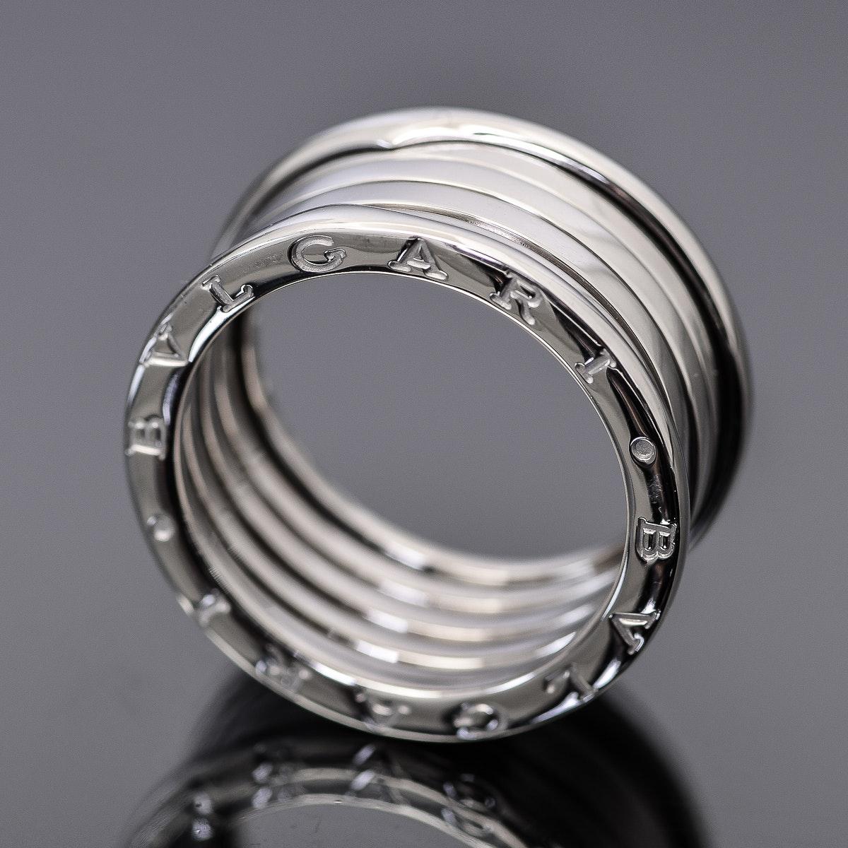 Bvlgari B.Zero1 18k White Gold Ring
