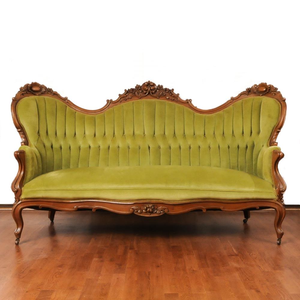 Antique Rococo Revival Parlor Sofa