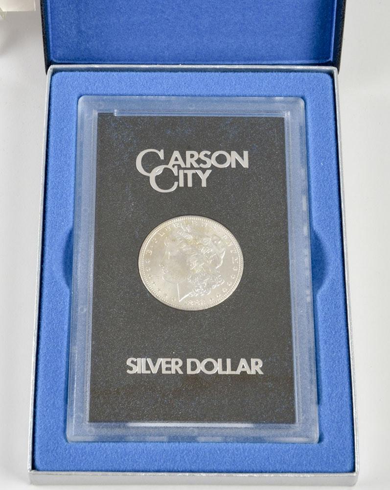 Boxed GSA 1882 CC Silver Morgan Dollar