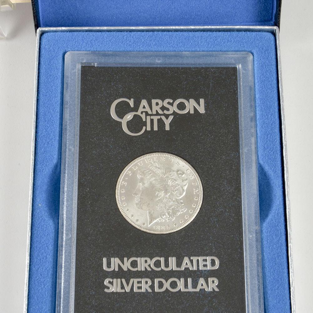 Boxed GSA 1884 CC Silver Morgan Dollar