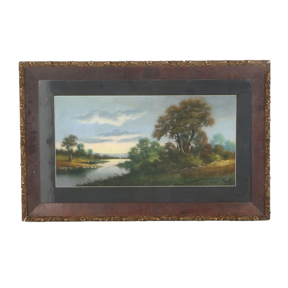 William Henry Chandler Original Landscape Pastel