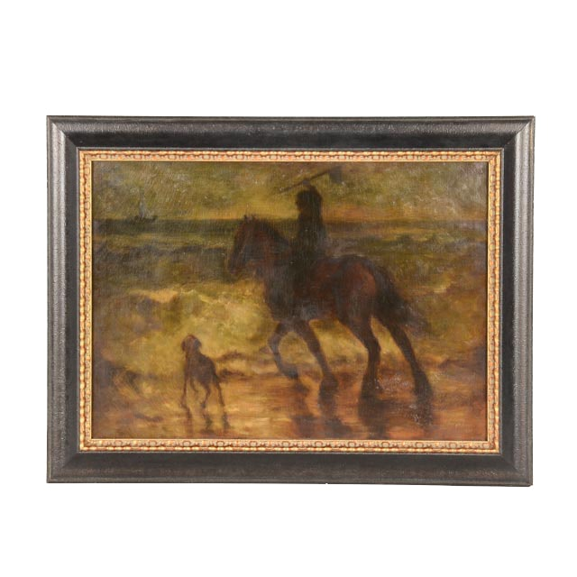 Original Oil on Canvas of Man on Horseback