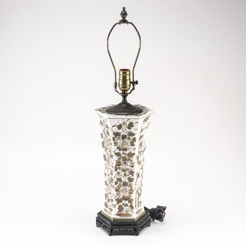 Ceramic Floral Table Lamp