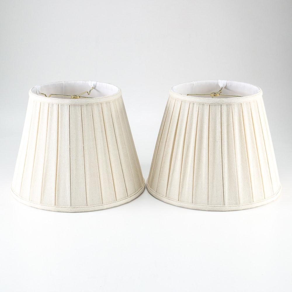Pair of White Lampshades