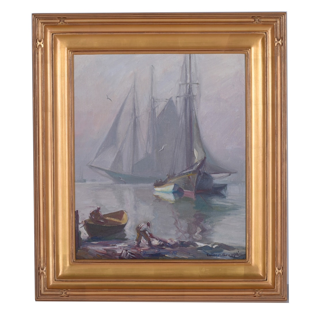 Emile A. Gruppe Signed Oil Painting
