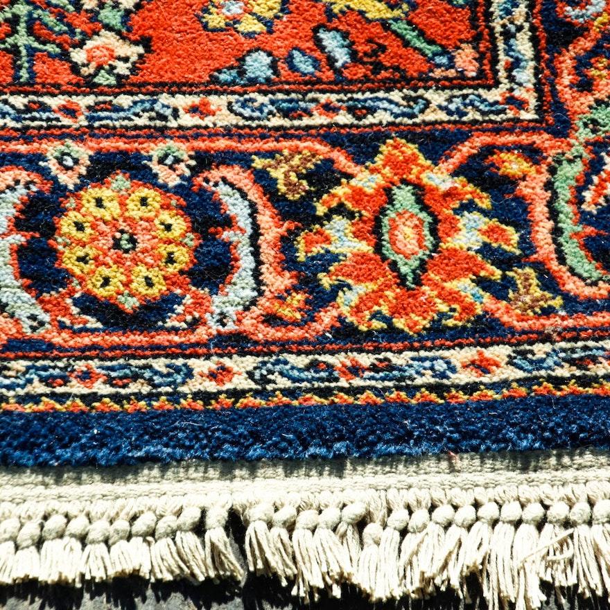"Persian Hand Woven Bakhtiari Style Wool Area Rug Ebth: Karastan ""Serapi"" Wool Area Rug : EBTH"